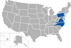 Central Intercollegiate Athletic Association locations