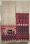 Ceremonial banner or loin-cloth ('tombi') from Sulawesi, Indonesia, c. 1915.jpg