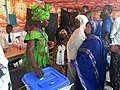 Chadian woman voting during the 2016 presidential election.jpg