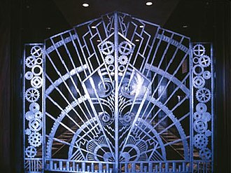 Rene Paul Chambellan - Gates from the Chanin Building which led to the private offices of Chanin