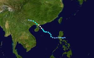 Typhoon Chanthu (2010) - Image: Chanthu 2010 track