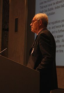 Charles Goodhart delives the 2012 Long Finance conference keynote speech.JPG