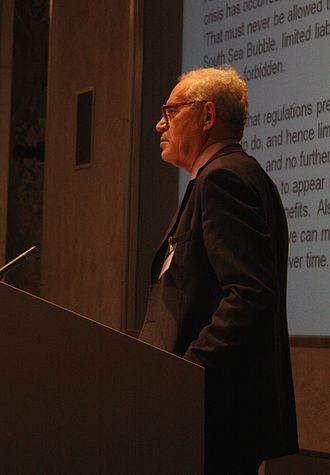 Charles Goodhart - Goodhart delivers the keynote address during the 2012 Long Finance conference in London