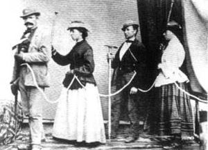 Emmeline Lewis Lloyd - (l to r) unknown, Emmeline Lewis-Lloyd, Jean Charlet and Isabella Straton – alpine climbers