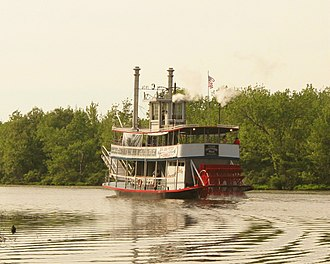 Chautauqua Belle - Chautauqua Belle steaming down the Chadakoin River, June 2008