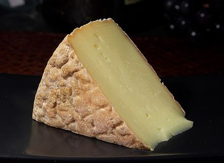Gubbeen cheese, an example of the resurgence in Irish cheese making Cheese 61 bg 080106.jpg