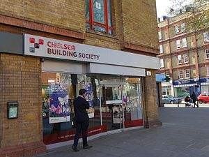 Chelsea Building Society - Chelsea Building Society, North End Road, Fulham, London