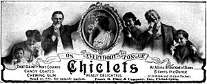 Chiclets - 1905 advertisement