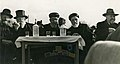 Chief rabbis in a housewarming party of «Batei Avot» building, 1946 (6100.0007.047).jpg