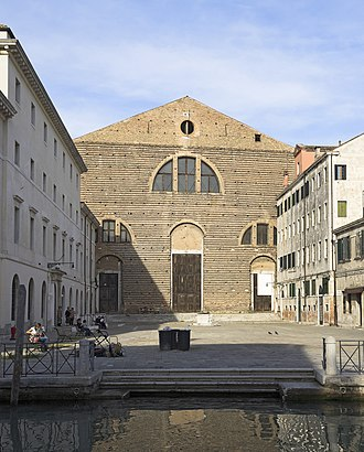 Marco Polo - San Lorenzo church in the sestiere of Castello (Venice), where Polo was buried. The photo shows the church as is today, after the 1592 rebuilding.