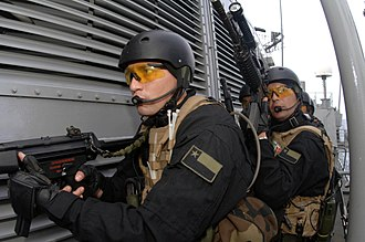 Chilean Marine Corps - Chilean Navy special forces sailors seen here using the MP5N.