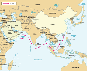 Sea lines of communication - China's Critical Sea Lines of Communication. In 2004, over 80 percent of Chinese crude oil imports transited the Straits of Malacca, with less than 2 percent transiting the Straits of Lombok. Click to enlarge.