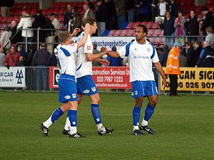 Chris O'Grady - O'Grady (right) at Bury with teammates Ben Futcher and Glynn Hurst