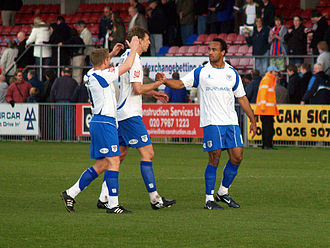 Chris O'Grady - O'Grady (right) at Bury with teammates Ben Futcher and Glynn Hurst