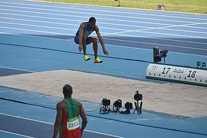 Athletics at the 2016 Summer Olympics – Men's triple jump - Image: Christian Taylor Triple Jump Rio 2016 001