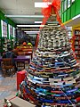 Christmas Tree of Books - Library - Historic Center - Saltillo - Coahuila - Mexico (44450313530).jpg
