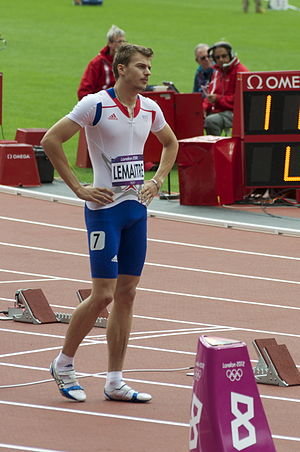Athletics at the 2012 Summer Olympics – Men's 200 metres - Christophe Lemaitre before his heat