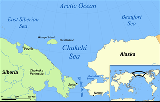 A marginal sea of the Arctic Ocean north of the Bering Strait