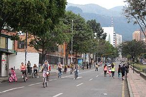 Ciclovía - Bogota's Ciclovia at Avenida Chile