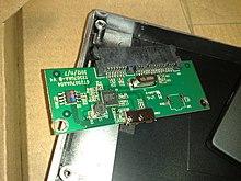 circuit board from a usb 3 0 external 2 5-inch sata hdd enclosure