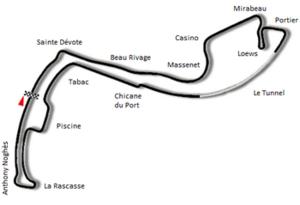 1980 Monaco Grand Prix - Image: Circuit de Monaco 1976