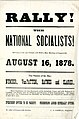 Circular advertising a meeting of the National Socialists in Connersville, (Indiana), August 16, 1878.jpg