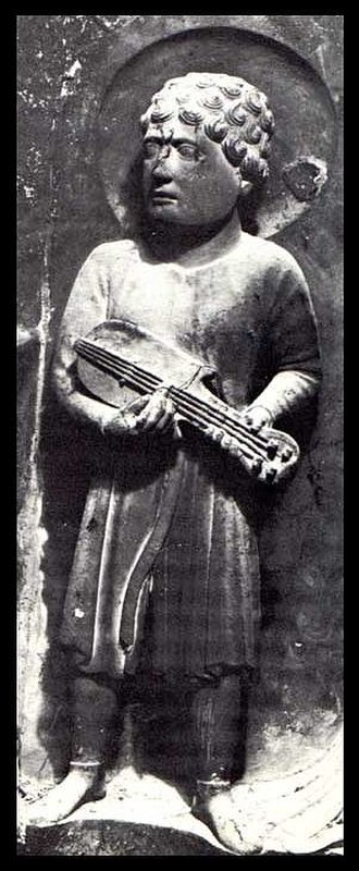 Benedetto Antelami - Citole player, Baptistry of Parma, c. 1180