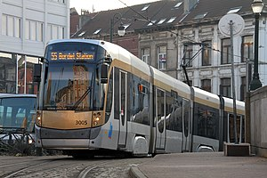 Trams in Brussels - A Bombardier T3000 in Brussels, 2010