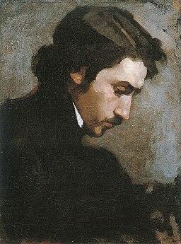 Claude Monet. 1867 Portrait of a man
