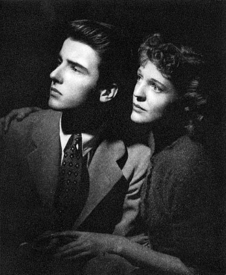 Montgomery Clift - Clift and Lois Hall in the Broadway production of Patricia Collinge's Dame Nature (1938)