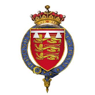 John de Mowbray, 2nd Duke of Norfolk - Image: Coat of Arms of Sir John Mowbray, 5th Earl of Norfolk, KG
