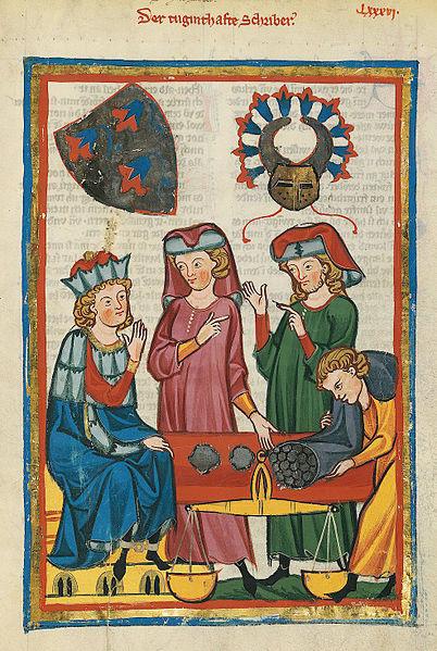 File:Codex Manesse 305r Der tugendhafte Schreiber.jpg