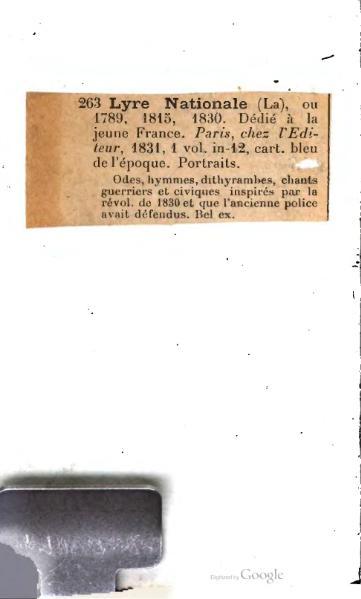 File:Collectif - La Lyre Nationale, ou 1789, 1815, 1830, dédiée à la jeune France, L'éditeur 1831.djvu