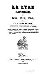 La Lyre nationale, ou 1789, 1815, 1830, dédiée à la jeune France