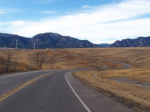 Colorado State Highway 128 - Going west on SH 128