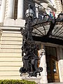 Comedy Theatre. Listed -8361. Main Entrance. Detail. - Budapest.JPG