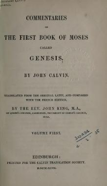 Commentaries on Genesis (Calvin) Vol 1.djvu