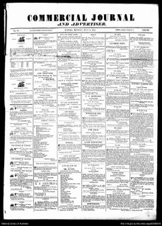 <i>Commercial Journal and Advertiser</i> Defunct Australian newspaper, published in Sydney, New South Wales from the 1830s to the mid-1840s