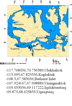 Ulukhaktok - Communities where Inuinnaqtun is spoken including Ulukhaktok