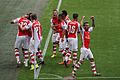 Community Shield 31 - Celebrating Giroud's goal (14862008386).jpg