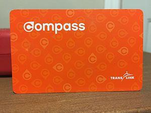 Compass Card (TransLink) - Concession Compass Cards are orange colour