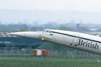 Speedbird - On the nose of BA Concorde G-BOAD at takeoff