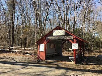 Connecticut Audubon Society - Connecticut Audubon Society Center at Fairfield - entrance to the Roy and Margot Larsen Wildlife Sanctuary