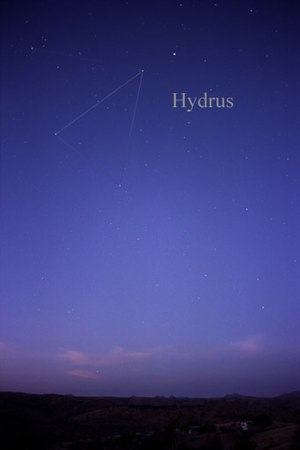 Hydrus - The constellation Hydrus as it can be seen by the naked eye