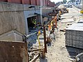 Construction of Newport Avenue entrance at Wollaston station, August 2018.JPG