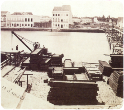 A construction site in the docks of Recife, 1862 Construction site in Recife 1862.png