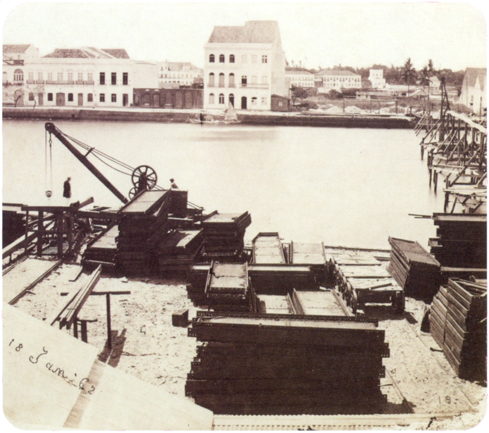 Construction site in Recife 1862