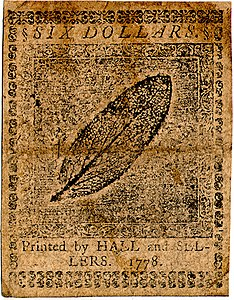 Continental Currency $6 banknote reverse (April 11, 1778).jpg