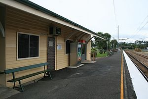 Cooroy railway station - Trackside of the station