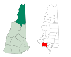 Location in Coos County, New Hampshire